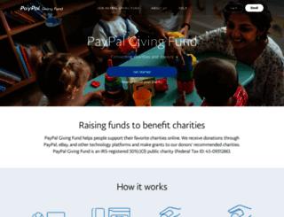 paypalgivingfund.org screenshot
