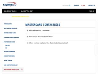 paypass.capitalone.ca screenshot