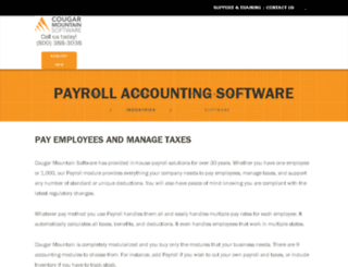payroll-software.cougarmtn.com screenshot