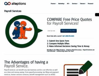payroll.alloptions.com screenshot
