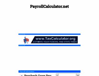 payrollcalculator.net screenshot