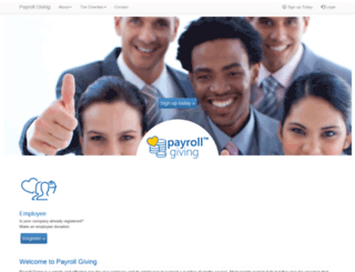 payrollgiving.co.za screenshot