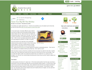 paystolivegreen.com screenshot