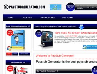 paystubgenerator.com screenshot