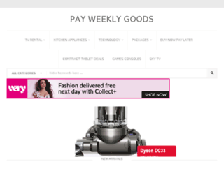 payweeklygoods.co.uk screenshot