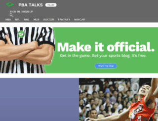 pbatalks.sportsblog.com screenshot