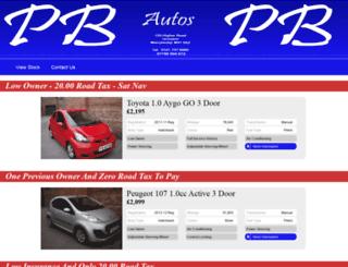 pbautos.co.uk screenshot
