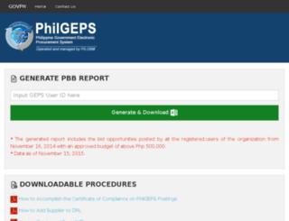 pbb.philgeps.gov.ph screenshot