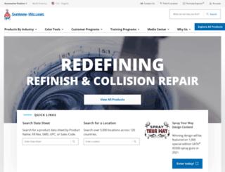 pbe.sherwin-automotive.com screenshot
