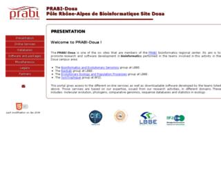 pbil.univ-lyon1.fr screenshot