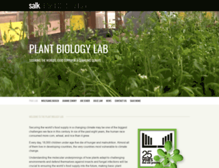 pbio.salk.edu screenshot
