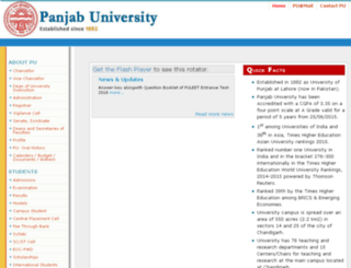 pblawadmissions.puchd.ac.in screenshot