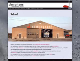 pbmertens.be screenshot