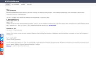 pbsoundscape.net screenshot