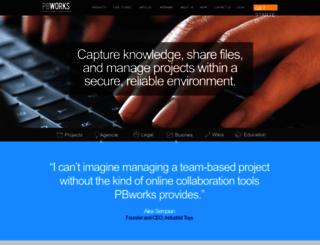 pbworks.com screenshot