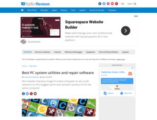 pc-system-utilities-software-review.toptenreviews.com screenshot