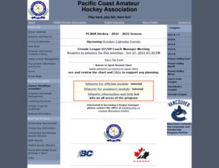 pcaha.bc.ca screenshot