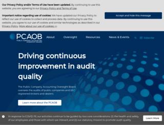 pcaob.org screenshot