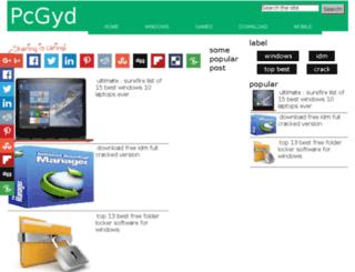 pcgyd.net screenshot