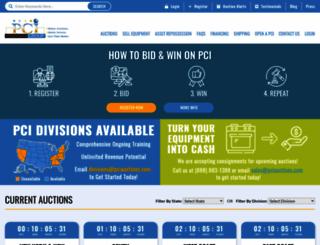 pciauctions.com screenshot