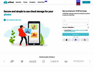 pcloud.com screenshot