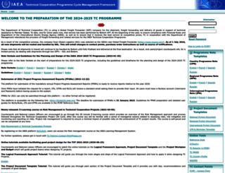 pcmf.iaea.org screenshot