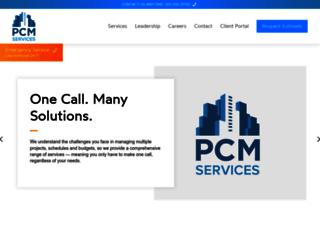 pcmservices.com screenshot