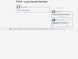 pcsi3.lycee-berthelot.fr screenshot