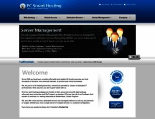 pcsmarthosting.com screenshot