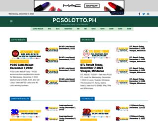 pcsolotto.ph screenshot