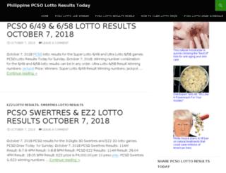 pcsolottoresulttoday.com screenshot