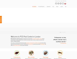 pcspest.co.uk screenshot