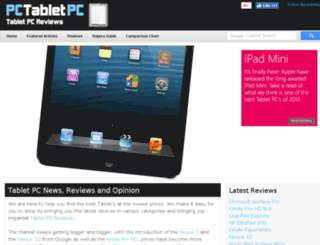 pctabletpc.co.uk screenshot
