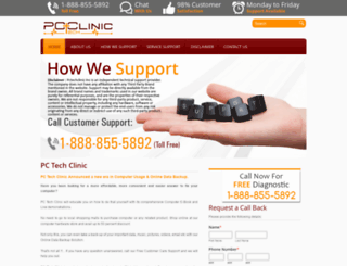 pctechclinic.ca screenshot