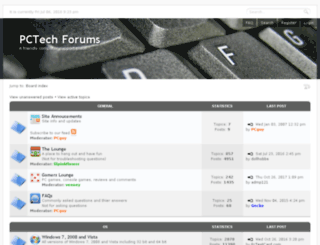 pctechforums.com screenshot