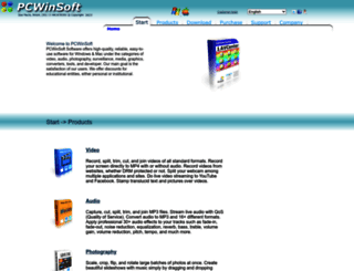 pcwinsoft.com screenshot