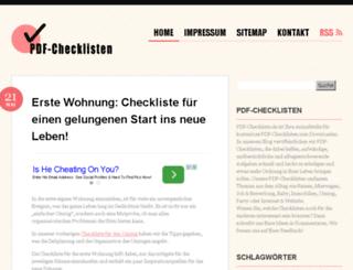 pdf-checklisten.de screenshot