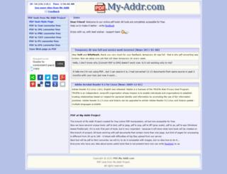 pdf.my-addr.com screenshot