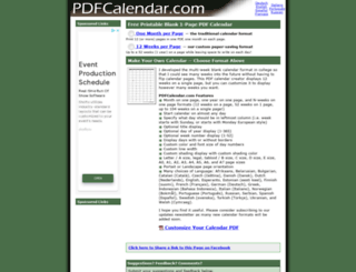 pdfcalendar.com screenshot