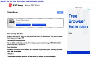pdfmerge.w69b.com screenshot