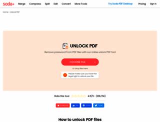 pdfpasswordremover.net screenshot