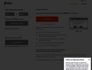 pdftoexcelonline.com screenshot