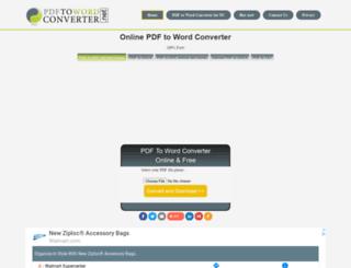 pdftowordconverter.net screenshot