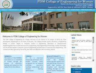 pdmcew.ac.in screenshot