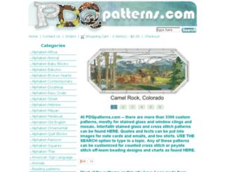 pdqpatterns.com screenshot