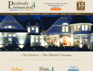 peabodylandscape.com screenshot