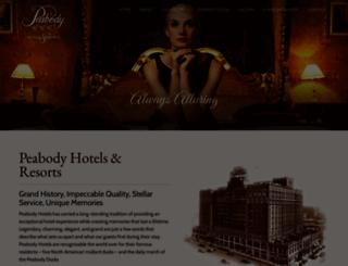 peabodylittlerock.com screenshot