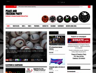 peaceandfreedom.org screenshot