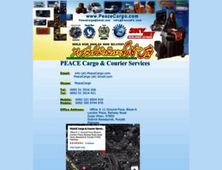 peacecargo.com screenshot
