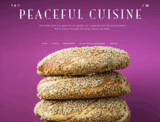 peacefulcuisine.com screenshot